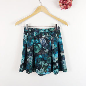 [EXPRESS] Dark Floral Skater Circle Skirt